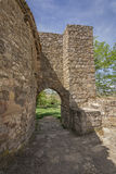 Arab gate on the walls of Medinaceli, Spain Royalty Free Stock Image