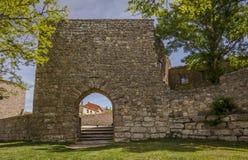Arab gate on the walls of Medinaceli, Spain Stock Photography