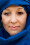 Arab girl. With blue scarf Stock Photo
