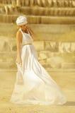 Arab girl. In white dress Stock Images