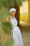 Arab girl. In white dress Royalty Free Stock Photo