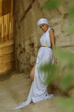Arab girl. In white dress Royalty Free Stock Image
