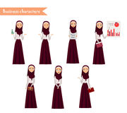 Arab Girl character for scenes. Royalty Free Stock Photography