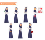 Arab Girl character for scenes. Stock Photos