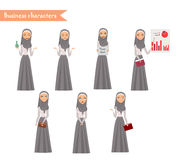 Arab Girl character for scenes. Royalty Free Stock Photo