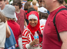 Arab Girl Smiles for the Camera on Canada Day Stock Image