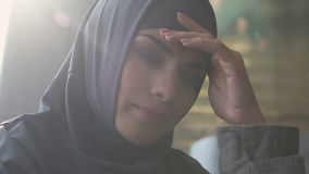 Arab girl upset with gender inequality in Muslim society, religious restrictions