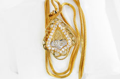 Arab gold jewelry Stock Photography