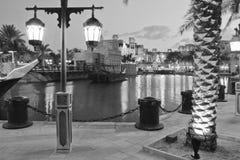 The Arab hotel under the light of lanterns on Christmas Eve, Dub Stock Photography