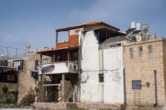Arab house in old town of Akko, Israel Stock Image
