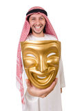 Arab in hypocrisy concept Royalty Free Stock Images