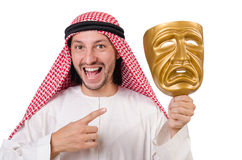 Arab in hypocrisy concept Royalty Free Stock Photography