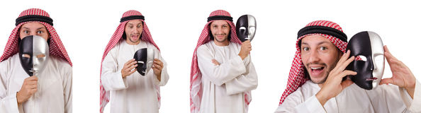 The arab in hypocrisy concept on white Stock Images