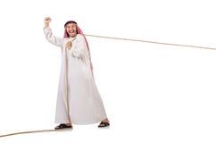 Arab i dragkampbegrepp Royaltyfri Fotografi