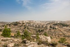 Arab and Jewish setlements and the West Bank sparation barrier.