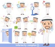 Arab Kandura jest ubranym men_complex Zdjęcie Stock