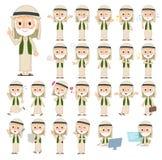 Arab Kandura jest ubranym starego men_1 Obrazy Royalty Free