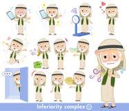 Arab Kandura jest ubranym starego men_complex Obrazy Royalty Free