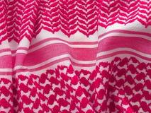 Arab keffiyah closeup. Oriental, bedouin like background. Arab keffiyah pattern Royalty Free Stock Images