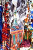 Arab keffiyeh at the market in Demre, Turk Royalty Free Stock Images