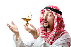 Arab with lamp Stock Photography