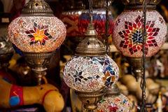 Arab lamps in the souvenir shop Stock Image