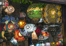 Arab lanterns Stock Images