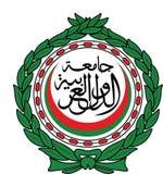 Arab league emblem   organisation Stock Image