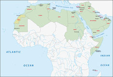 Arab league map. Member states of arab league map Stock Images