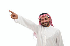 Arab Man. Posing and smiling on white background Royalty Free Stock Photos