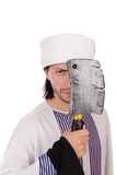 Arab man with axe Royalty Free Stock Image