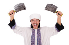 Arab man with axe Stock Image