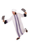 Arab man with axe Royalty Free Stock Photo