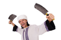 Arab man with axe Royalty Free Stock Images