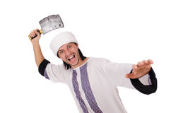 Arab man with axe Royalty Free Stock Photography