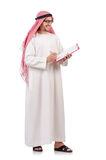 Arab man. With binder isolated on white Stock Photo