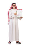 Arab man with binder Royalty Free Stock Photos