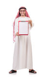 Arab man with binder Stock Photos