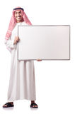 Arab man with blank board Royalty Free Stock Photography