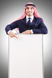 Arab man with blank board Stock Photography