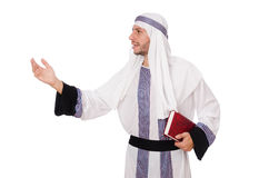 Arab man with book Royalty Free Stock Photography