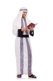 Arab man with book Royalty Free Stock Photo