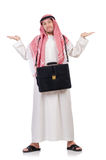 Arab man with briefcase Royalty Free Stock Photo