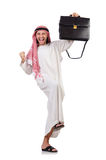 Arab man with briefcase Stock Image