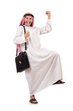 Arab man with briefcase Stock Photography