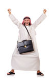 Arab man with briefcase Royalty Free Stock Photos