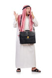 Arab man with briefcase Royalty Free Stock Images