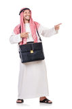 Arab man with briefcase Royalty Free Stock Photography