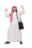 Arab man with briefcase Stock Photo