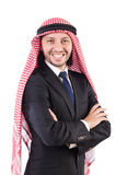 Arab man in confident concept isolated Stock Photography